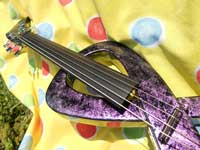 Six strings carbon electric violin